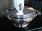 Large German 800 Sterling Silver Soup Tureen