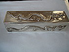 Chinese Export Sterling Silver Box Dragons Wang Hing