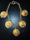 Vintage CHANEL Necklace with Hats w/Bows