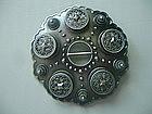 Finest Norwegian 830 Silver Solje Brooch /Pin