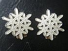 David Andersen Norway Sterling Silver Enamel Earrings