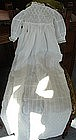 Antique Whitework Lace Embroidered Christening Gown