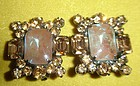 Large JULIANA Rhinestone SAPHIRET Earrings