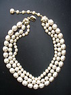 Miriam Haskell Baroque Pearl 3-Strand Necklace