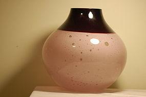 Barbini Murano glass vase rare Signed C:1950