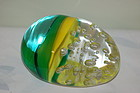 Pino Signoretto Murano Glass paperweight Signed