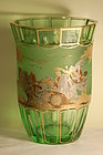 Moser Bohemian glass artist-signed vase C:1920