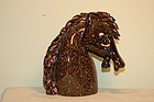 Archimede Seguso Signed Murano glass horsehead C:1960