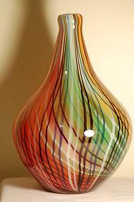 Dino Martens A Toso Mezza Filigrana Murano Glass vase