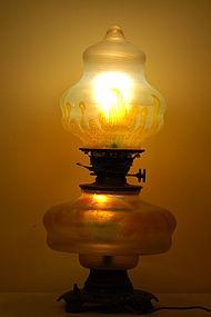 Loetz lamp Phanomen in Tiffany art Very rare C:1900