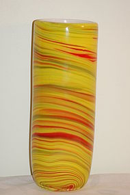 Murano Glass vase 'Mezza Filigrana' Barover & Toso