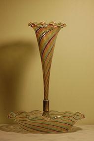 Murano glass epergne Archimede Seguso C: 1950