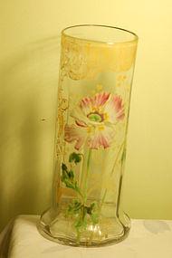 Moser Mont Joye hand-painted art glass vase C:1900