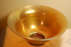 Steuben Aurene glass large signed bowl C:1920