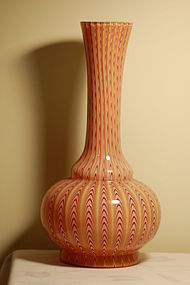 Stevens & Williams English glass large Osiris vase C:1887