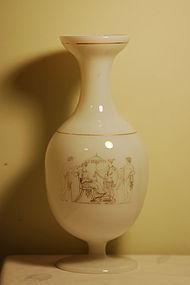 Richardson Engliah glass opaline vase C:1850