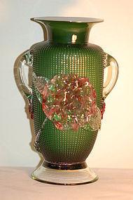 Richardson English diamond glass vase C:1850