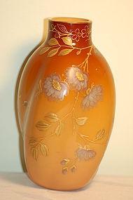 Thomas Webb English Peachblow glass vase C:1890