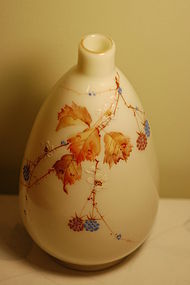 Mt Washington Crown Milano hand painted vase C:1890