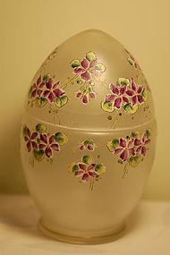 Mont Joye French glass hand painted box