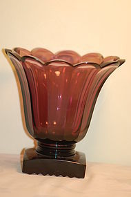 Antique Boston & Sandwich amethyst glass vase