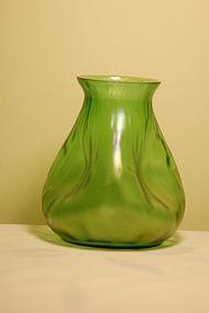 Loetz Bohemian glass 'Creta Rusticana' Tree-trynk vase C:1898