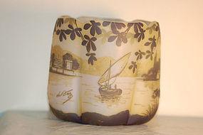DeVez French cameo glass vase C:1900