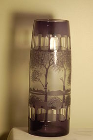 Kralik cameo glass vase (similar at Passau Museum) C:1920