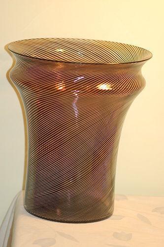 Venini Murano large vase by Sergio Asti signed C:1970