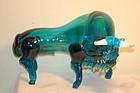 Napoleone Martinuzzi style Murano glass bull figurine C:1935
