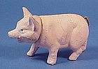 Old German Pink Pig Candy Container