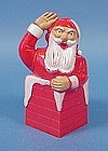 Hard Plastic Santa In Chimney Candy Container