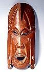 Handcarved Kenyan Wooden Ceremonial Mask