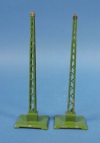 Pair Pre-War Lionel Train Warning Signals
