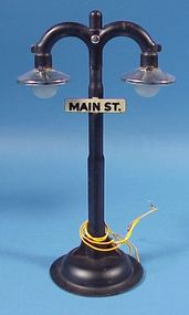 """Main St."" Electric Train Double Lamp Post"