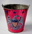 Patriotic Ohio Art Tin Litho Childs Sand Pail