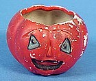 Halloween Bisque Jack-o'Lantern Card Holder