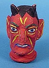 Vintage Halloween Devil Hand Puppet Head