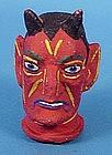 Vintage Halloween Devil Hand Puppet Head