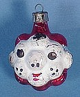 Vintage Glass Popcorn Head Christmas Ornament
