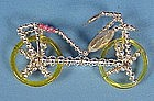 Vintage Glass Bicycle Christmas Ornament