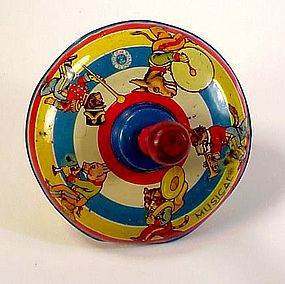 Wyandotte Lithographed Tin Child�s Spinning Top