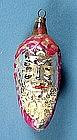 Old Santa Pinecone Glass Christmas Ornament