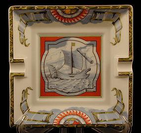 Hermes Porcelain Ashtray Nautical