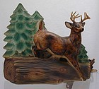 Jumping Deer TV Lamp by Ornamental Arts & Crafts