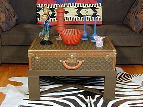 Louis Vuitton Coffee Table Trunk - Decorators Delight!