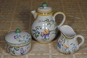 "Hermes ""Toucans"" Moustiers Coffee Service"