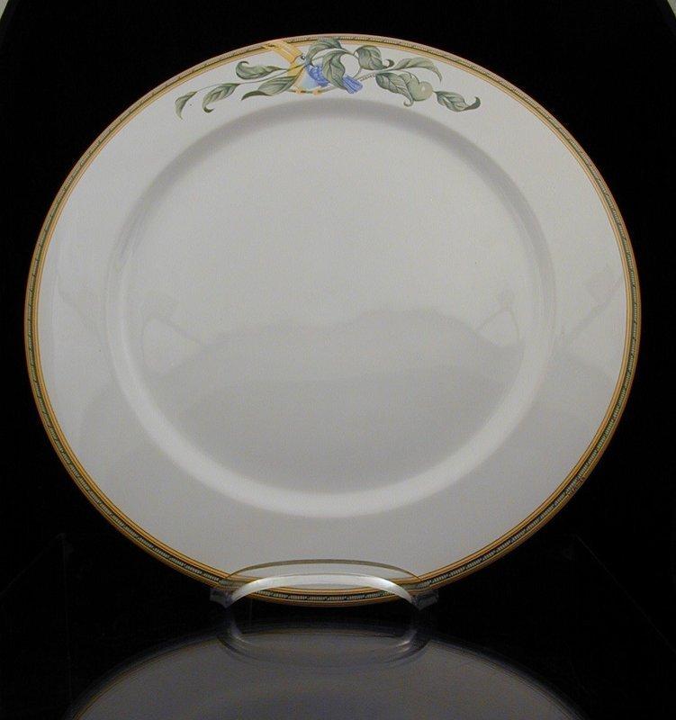 "Hermes ""Toucans"" Moustiers Round Serving Platter"