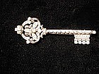 CoroCraft Sterling Key Brooch