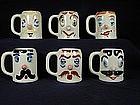 Pfaltzgraff Muggsy Mugs - Set of Six